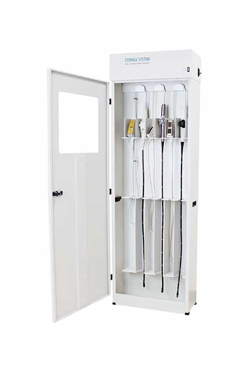 Ultrasound Probe Storage Cabinet for TEE Probes